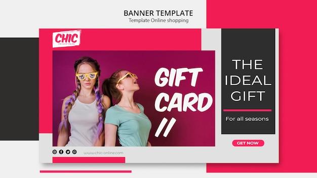 Online shopping banner concept