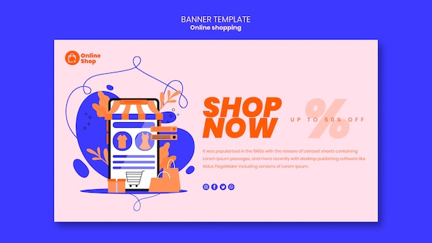 Online shopping banner design
