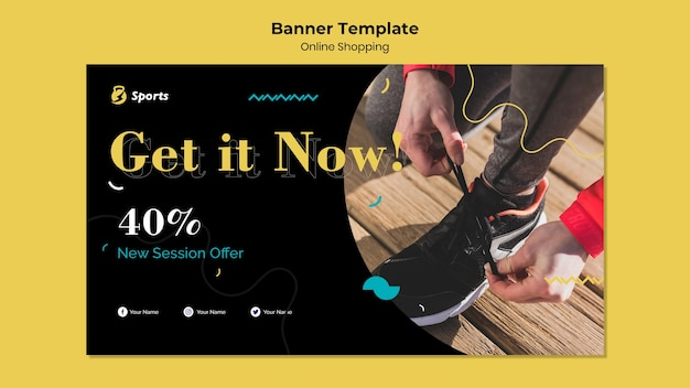 Online shopping banner template design