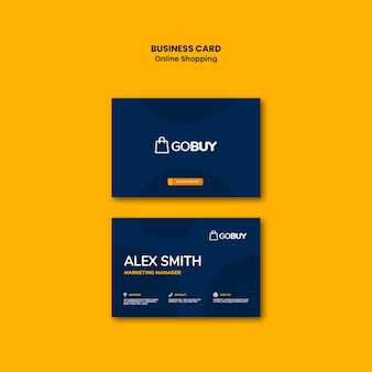 Online shopping business card