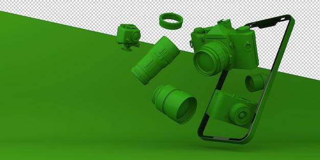 3d-рендеринг мобильного приложения камеры онлайн