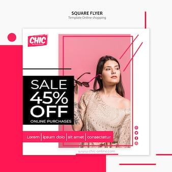 Online shopping flyer