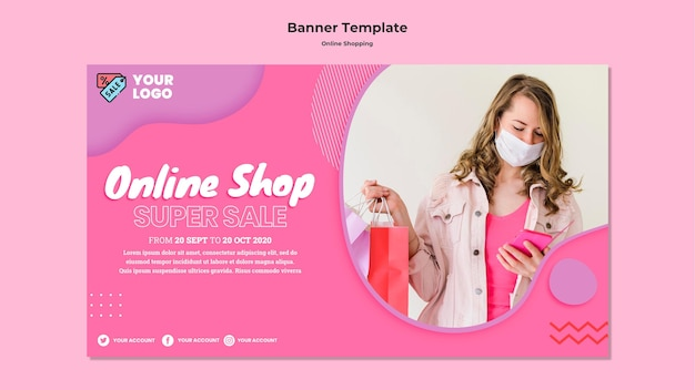 Online shopping horizontal banner