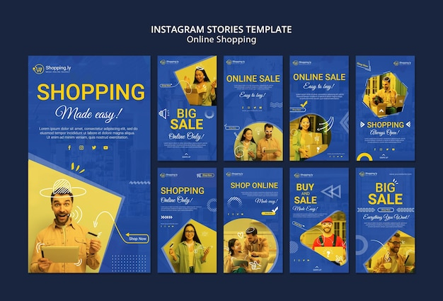 Online shopping instagram stories template