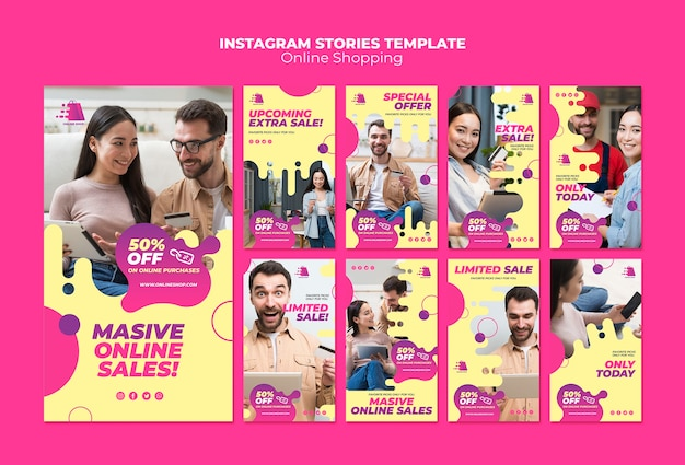Online shopping instagram stories