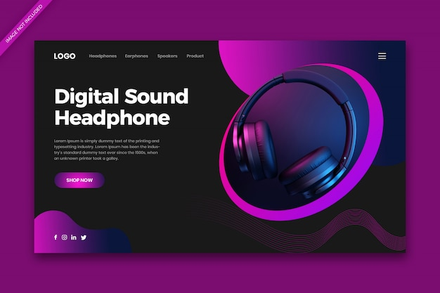 Online shopping  landing page web template