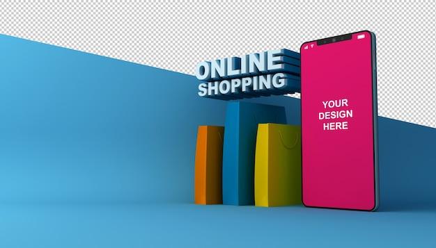3d 렌더링의 온라인 쇼핑 모바일 애플리케이션