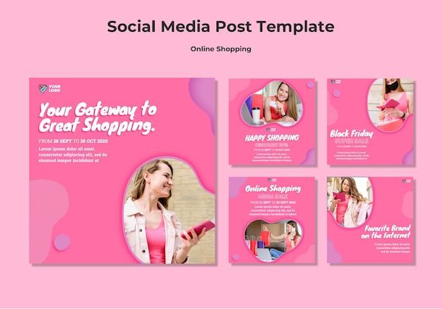 Online shopping social media post