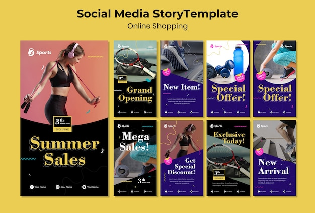 Online shopping social media story