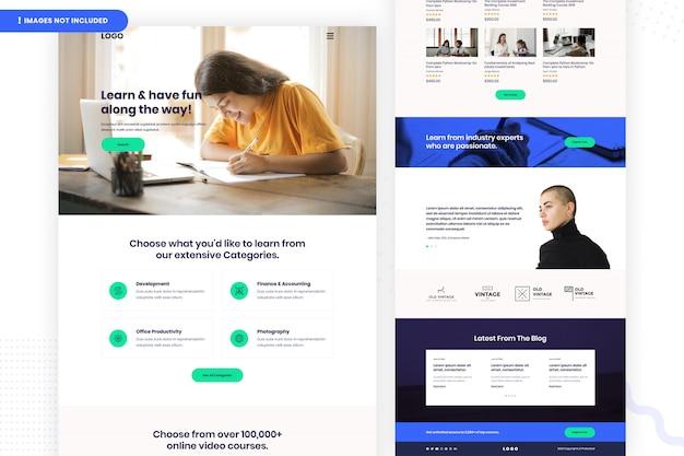 Дизайн страницы веб-сайта онлайн-обучения