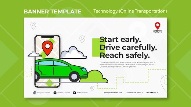 Online transportation banner template