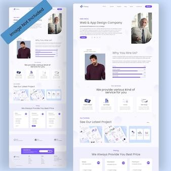 Online work agency landing page