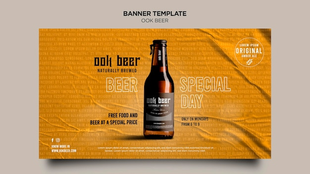 Ook beer ad banner template
