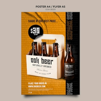 Ook beer flyer template