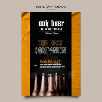 Шаблон плаката пива ook