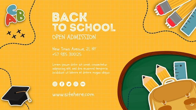 Open admission announcement poster template