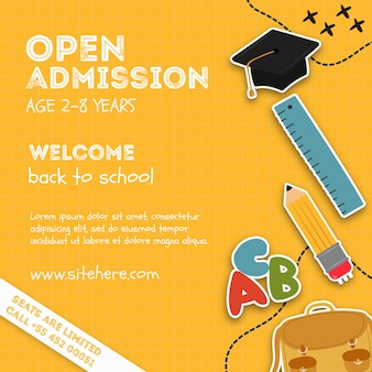 Open admission event poster template