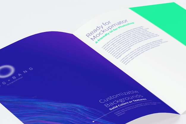 Макет брошюры open bi fold