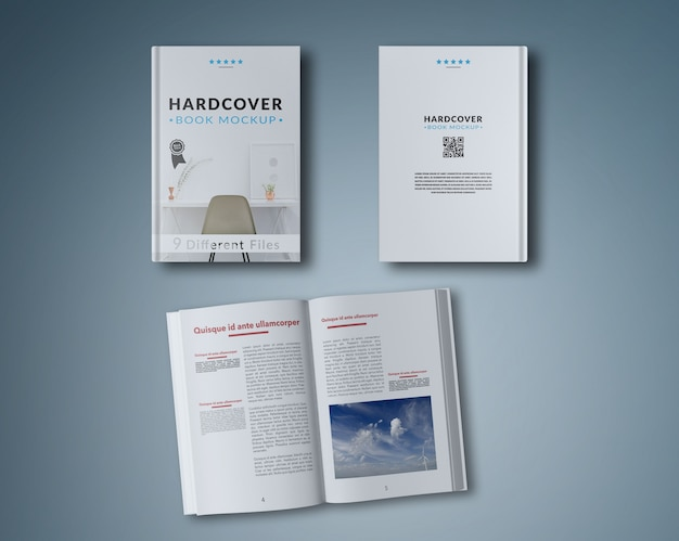 Открытая книга и две обложки