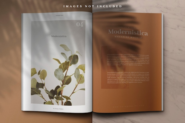 Open book or magazine mockup