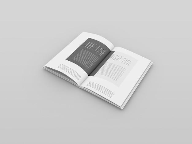 Libro aperto mockup