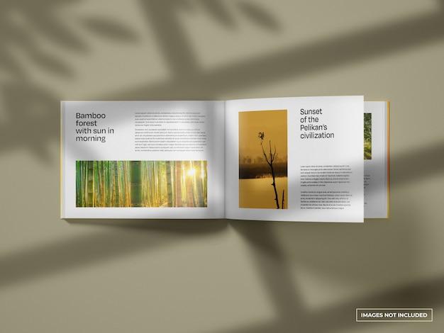 Open horizontal catalogue mockup