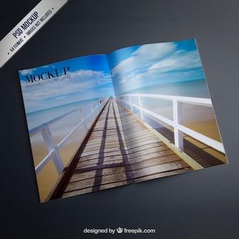 Open magazine mockup Premium Psd