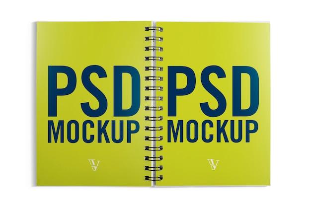 Open notebook mockup