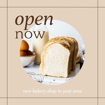 Apri ora il modello di post psd ig per il marketing di prodotti da forno e bar