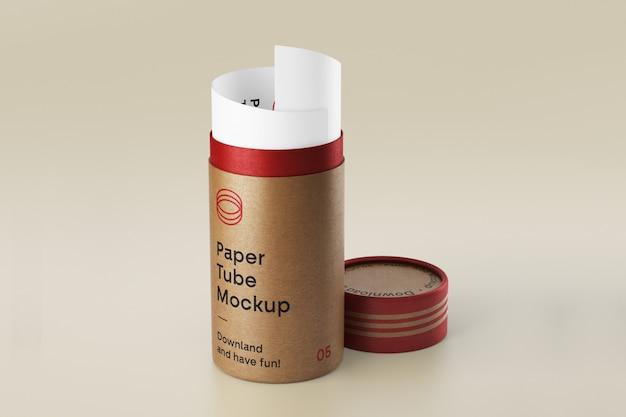 Макет open paper tube