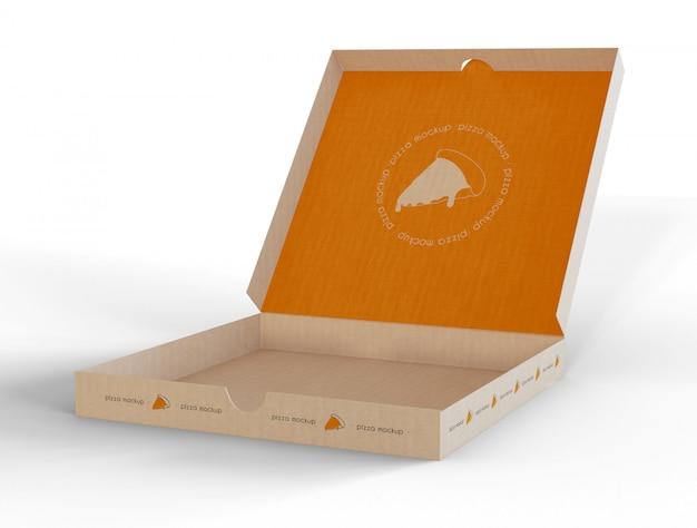 피자 박스 모형 열기