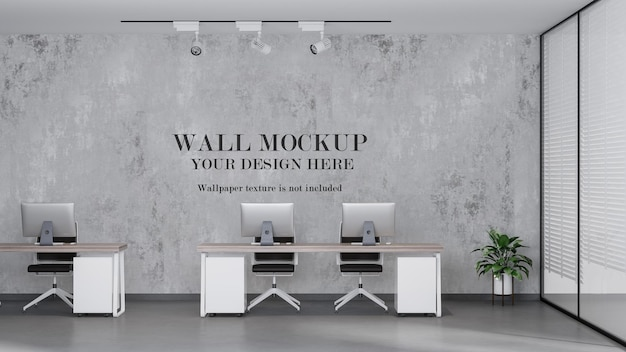 Open space office mockup wall