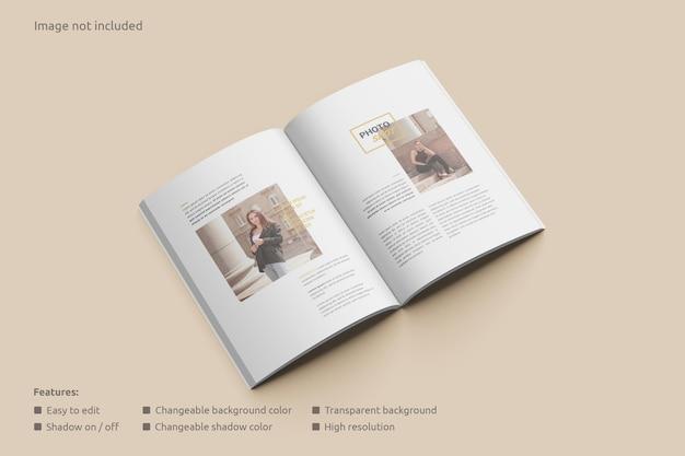 Open view magazine mockup