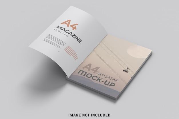 A4雑誌のモックアップを開設