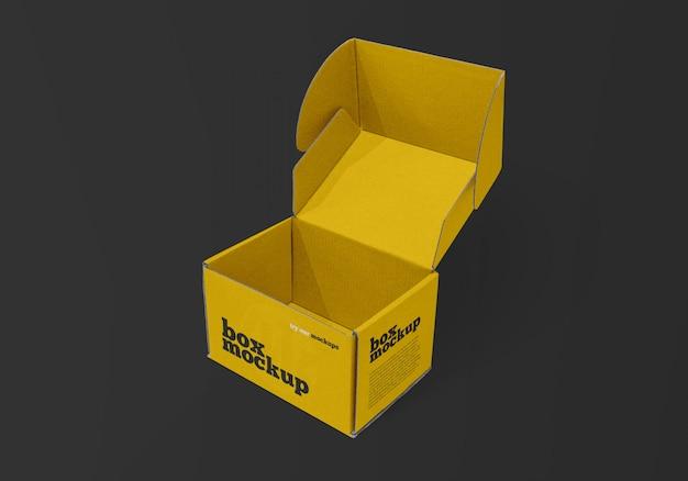 Макет открытой коробки доставки