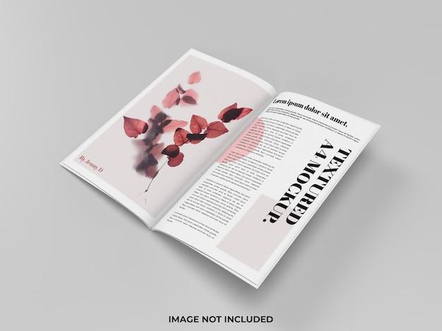 광고용 잡지 모형 오픈