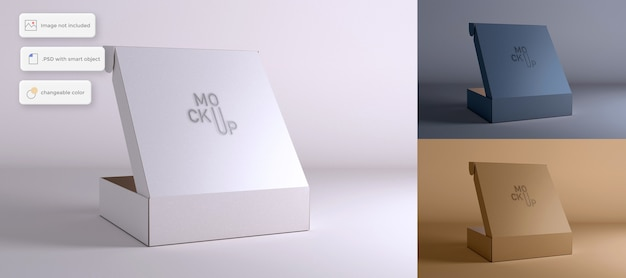 Макет открытой упаковочной коробки