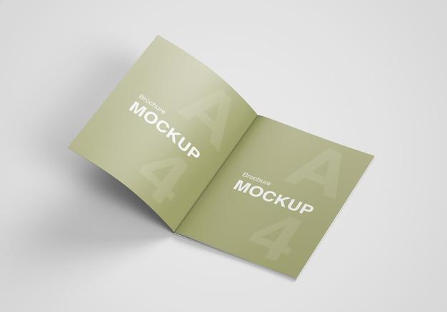 Opened us letter size brochure or magazine mockup