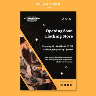 Opening soon clothing store poster template