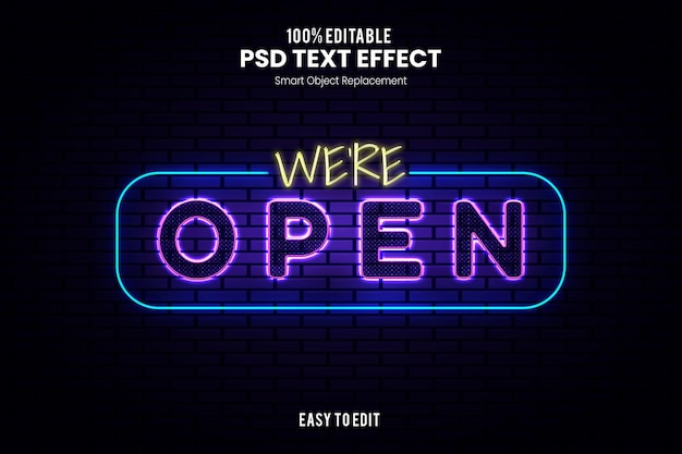 Эффект opentext Premium Psd