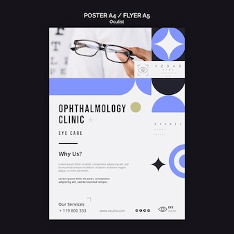 Ophthalmology clinic flyer template