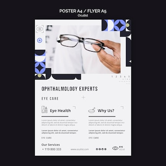 Ophthalmology experts flyer template