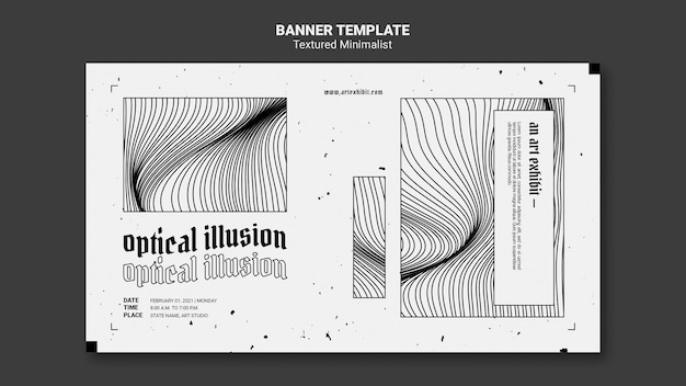 Optical illusion art exhibit banner template