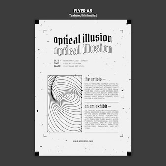 Optical illusion art exhibit flyer template
