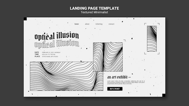 Optical illusion art exhibit landing page template