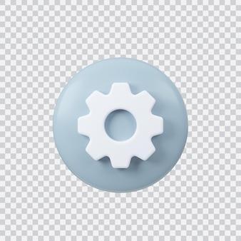 Параметры знак 3d визуализации кнопка интерфейса, изолированные на белом