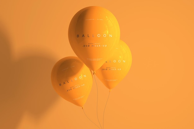 Мокап оранжевого шара