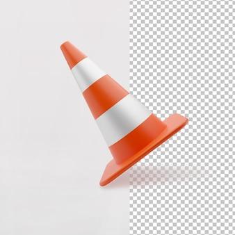 Orange color 3d road highway traffic construction cones