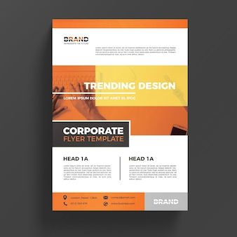 Orange corporate business flyer template