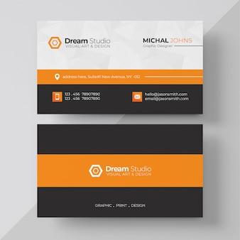 Orange elegant corporate card